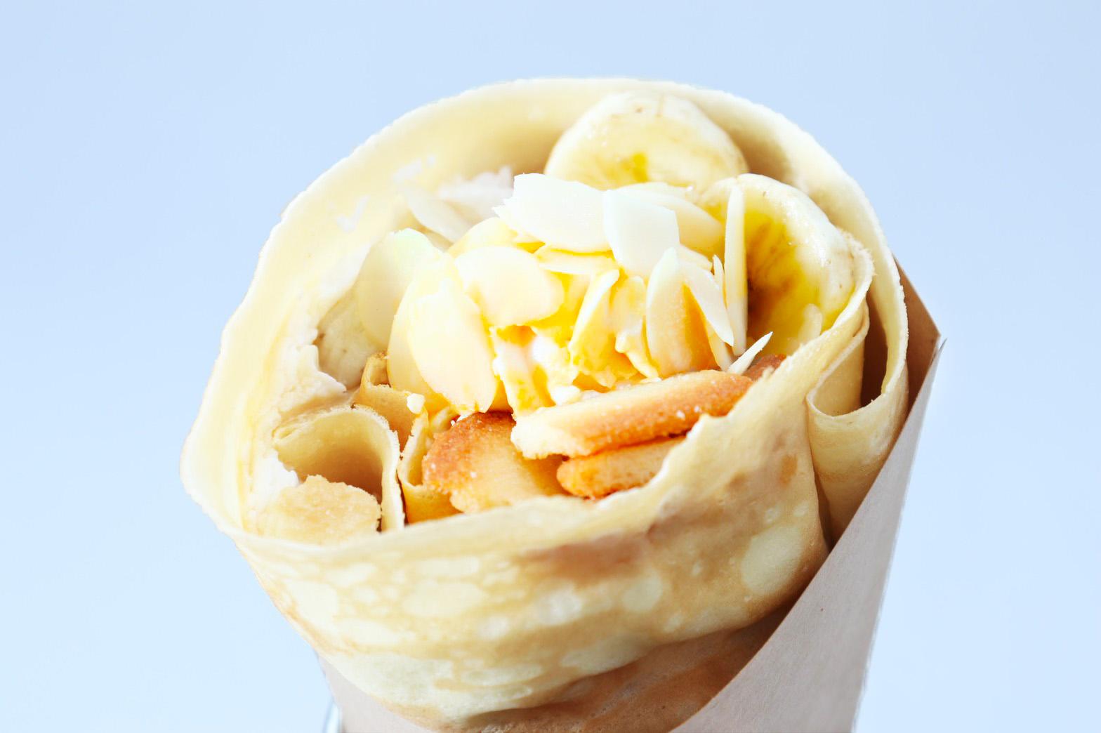 バナナキャラメルクランチクレープ